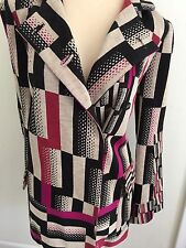 Diana von Furstenberg Multi Color Block Jacket Size L NWT