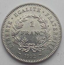 """1 Franc """"République"""" - 1992 - BE France SUP"""