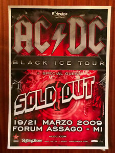 AC/DC original promo poster of Black Ice Tour 2009 (BA.311)
