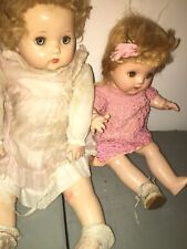 (2)vintage composition Sleepy Eye dolls