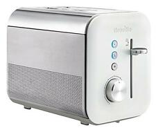 Breville 2 Slice High Gloss Toaster Blue Illuminated Control Buttons White NEW