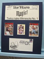 Minnesota Twins - 1987 World Champs and Commemorative Cover