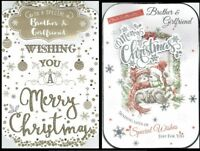 BROTHER and GIRLFRIEND ~ Quality CHRISTMAS CARD with Fab Verses Choice of Design