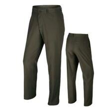 Nike piatto frontale Stretch Woven Pantalone Da Golf 725688 325 Cargo Kaki Taglia 34 - 32 NUOVO
