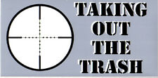 TAKING OUT THE TRASH BUMPER STICKER VINYL DECAL sniper veteran soldier patriot