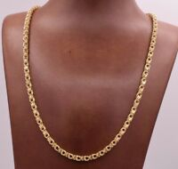3.5mm Square Byzantine Box Link Diamond Cut Chain Necklace Real 10K Yellow Gold