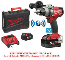PERCEUSE VISSEUSE MILWAUKEE SANS FIL 18V ONEDD-502X + 2 BATTERIES 5.0 AH M18