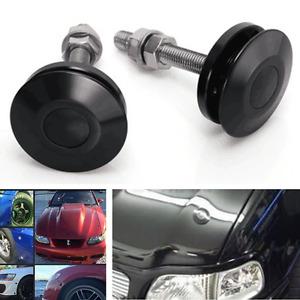 Universal JDM Style Push Button Billet Hood Pins Lock Clip Kit Car Quick Pins