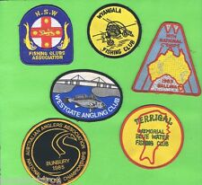 #D37. Six Fishing Related Cloth Patches