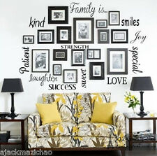 Family Letters Wall Quotes Wall stickers Decal Removable Mural Deco Vinyl Home