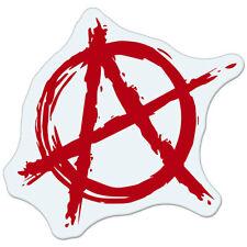 """Anarchy Red car bumper sticker decal 4"""" x 4"""""""