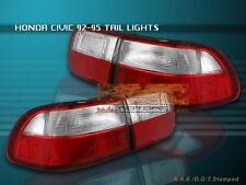 92-95 HONDA CIVIC TAIL LIGHTS 2/4DOOR 93 94 COUPE SEDAN