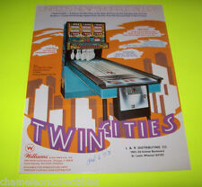 TWIN CITIES By WILLIAMS 1973 ORIGINAL SHUFFLE BOWLING ALLEY FLYER BROCHURE