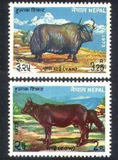 Népal 1973 vache/Yak/bovins/animaux domestiques/Nature/Agriculture 2 V Set (n38834)