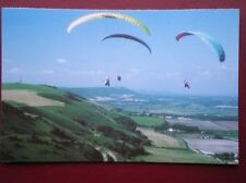 POSTCARD SUSSEX LOTS OF HANG GLIDERS OVER THE DOWNS