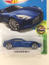 New Sealed Hot Wheels ASTON MARTIN ONE 77 BLUE Die Cast Metal Car Collectible