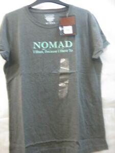 Women's NOMAD Logo Tee New Dark Grey Heather  Size XL I Hunt U-11