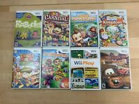 Nintendo Wii Video Game Lot of 8 Monkey Ball Play Cars Carnival Tested & Works
