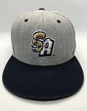 San Antonio Missions Minor League Baseball Cap Hat Adult Snapback Gray Mazda