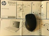 ***NEW*** HP Wireless Premium Mouse Comfort Grip Black Bluetooth - Manuals & Box