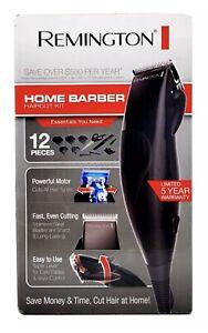 Remington Home Barber Haircut Kit And Beard Trimmer 12 Piece Hair Clipper Black