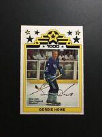 1977-78 OPC O-Pee-Chee WHA Gordie Howe Hockey Card #1 - NM Condition