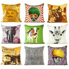Digital Printed Cushion Pillow Cover Case Throw Couch Colorful Boho Chic Indien