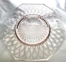 "Fenton Pink Depression 8"" Plate ""Diamond Optic"""