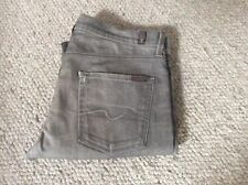 Mens 7 For All Mankind Floyd Straight Leg Jeans Waist 33 Leg 32 Button Fly Grey