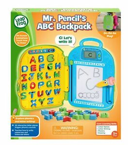Mr. Pencil's ABC Backpack Preschool Learning Phonics Toy NEW