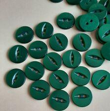 10x purple fisheye buttons 15mm B010