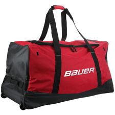 Sac Bauer Core Wheel rouge senior avec roulettes hockey sur glace, roller hocke
