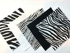 "40 5"" Quilting Fabric Squares  Pre Cut Quilting Charm Pack Black & White Zebra"