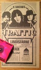 TRAFFIC Steve Winwood LINDISFARNE Shrine Auditorium Original 1974 Ad Clipping