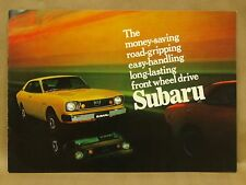 Vintage 1970s Subaru GL Coupe Wagon Brochure Catalog Accessories Specifications