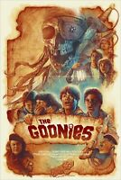 The Goonies Barret Chapman Cream Edition Poster Screen Print 24x36 Mondo Artist