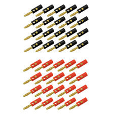 4x Gold Plated Kupfer 4mm Bananenstecker Stecker Test DIY Solder Connector   HV