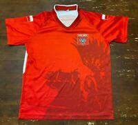 Poland Polska Soccer Jersey Football Red Top Adidas Nike Mens Adult SMALL
