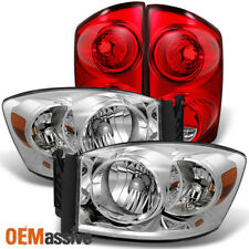 Fit 07-08 Dodge Ram 1500 2007-2009 Ram 2500 3500 Clear Headlights+Red Tail Light