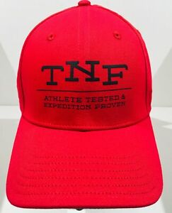 "THE NORTH FACE ""Classic Sport"" Baseball Hat Adjustable Size Red Ball Cap NWT"