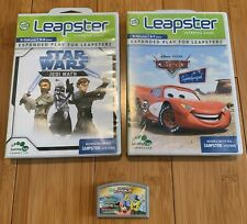 Leap Frog Leapster Learning Game Lot of 3 Cartridges Star Wars Spongebob Cars