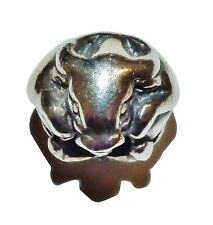 Pre-Owned Genuine TROLLBEADS Sterling Silver 'Chinese Ox' Bead - 11454