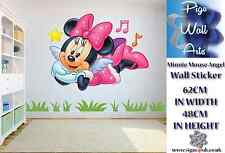 Disney Minnie Mouse Ángel Pared Adhesivo Decoración Habitación para Niños Grande.