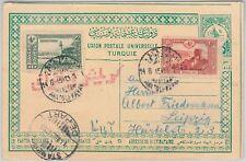 64306 - TURKEY Ottoman Empire - STATIONERY CARD with CENSOR POSTMARK Kavak