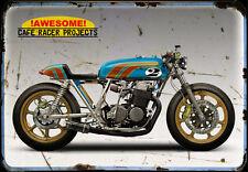Honda Cr Cb 750 1 A4 Metal Sign Motorbike Vintage Aged