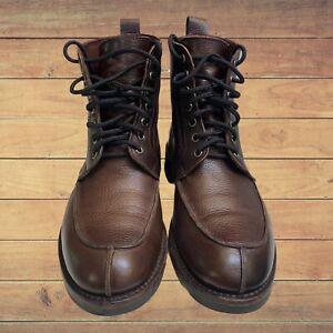 ALLEN EDMONDS RAINIER Leather  BROWN Split-Toe Boots 8.5 D