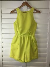 KOOKAI Playsuit Size S Romper Jumpsuit Short Lime Yellow Party Dressy Summer
