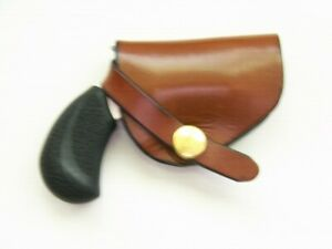 Leather Cross Draw Holster fits NAA Pug or Mini 22LR Belt Slide R/H Draw Brown