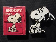 1974 SNOOPY Solid State Radio w/ Box Carrying Strap & Earphone VF/VG Peanuts