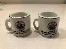 NHL Cup Crazy Mini Mugs Edmonton Oilers Stanley Cup Champions '84 & '85